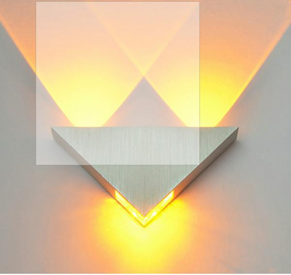 3W LED Wall Lamp AC110-220V Aluminum Sconce KTV / Bar / Corridor Decorate Wall Light