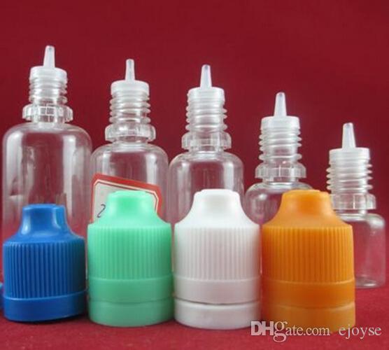 50 pcs 5 10 15 20 30 50 ml compte-gouttes en plastique bouteilles tamper inviolables capsules conseils c