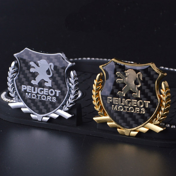 2Pcs Refinement 3D Logo Emblem Abzeichen Grafik Aufkleber Auto Aufkleber PEUGEOT