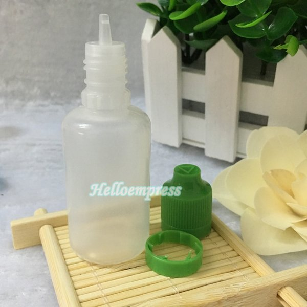 Fast Shipping Childproof Tamper Cap PE Bottles 30ml plastic E Liquid Bottle With Long Thin Tips empty Bottle 30ml For Ejuice