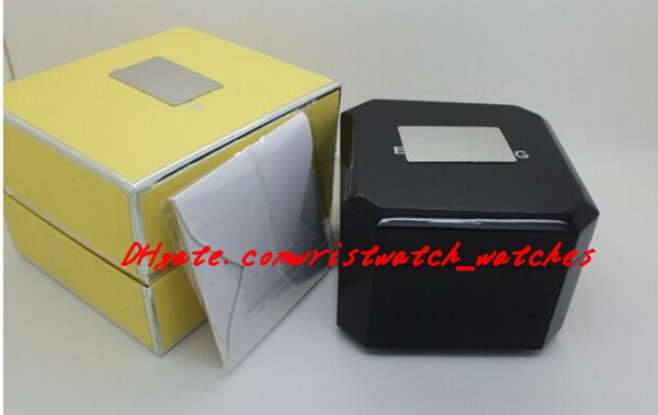 Free shipping New Luxury Mens Box Swiss Original Brand Black Boxes Papers Watches Booklet Card Gift For Man Men Women Sale