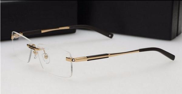 Free shipping brand glass Optical frame Men Brand 2016 rimless eyeglasses frames MB349 designer points men fit reading glasses prescriptio