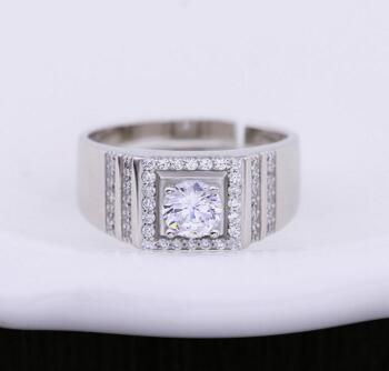 Men's Jewellery Wedding Ring 10K White Gold Fill Round Semi Mount Lad Diamond Jewelry