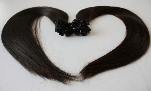 "5A- grade 1g /s 100g/pack Indian remy Italian keratin flat tip hair extensions 16""-26"" 1b# natural black dhl free shipping"