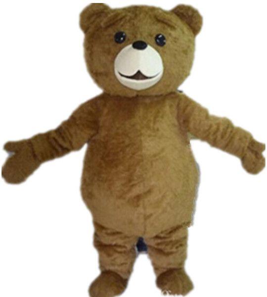 WR210 Envío gratis luz y fácil de usar adulta marrón felpa oso de peluche mascota traje para adultos para usar
