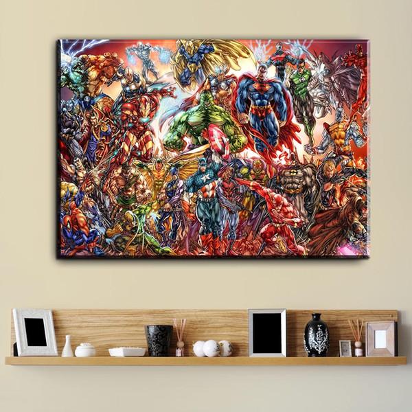 1 Stücke Aquarell Superhero Avenger Film Leinwand Kunst Ölgemälde Moderne  Wohnkultur Wandkunst Poster Bilder Für Wohnzimmer