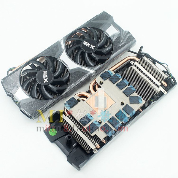 New Original for Sapphire R9 270X R9 280 Platinum Edition OC graphics card cooling fan with heat sink 4-pipe 54*54mm