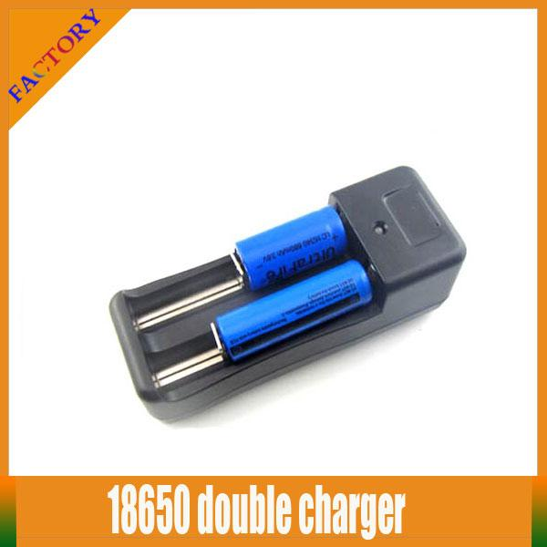 2 pcs Dual Slots Universal e cigarette battery charger adapter for Rechargeable Li-ion 16340 Batteries EU US 18650 18350 battery Charger