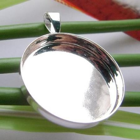 18mm silver plated