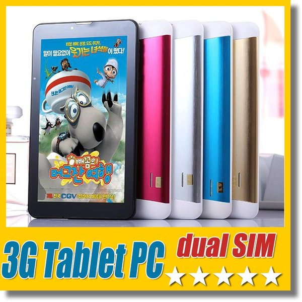 3g dual im tablet pc 8gb quad core 7 inch 1024 600 creen bluetooth gp android 4 4 dual camera wifi phablet