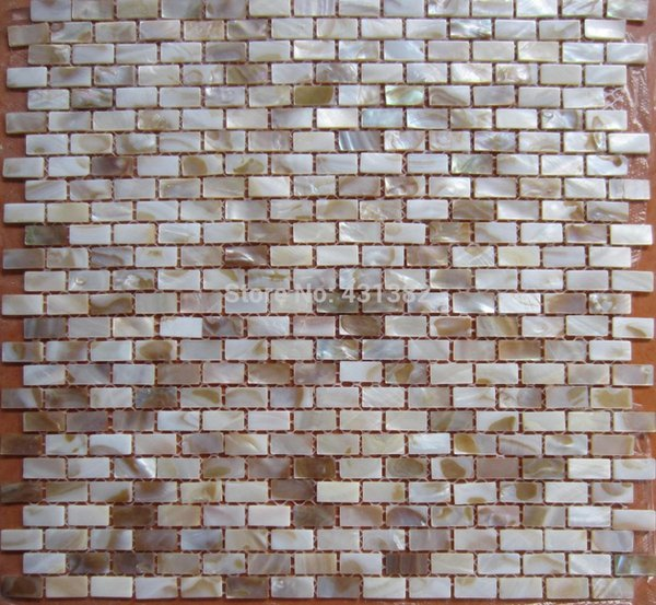 Home improvement freshwater shell mosaic tile mother of pearl , cheap shell mosaics tiles floor, background wall
