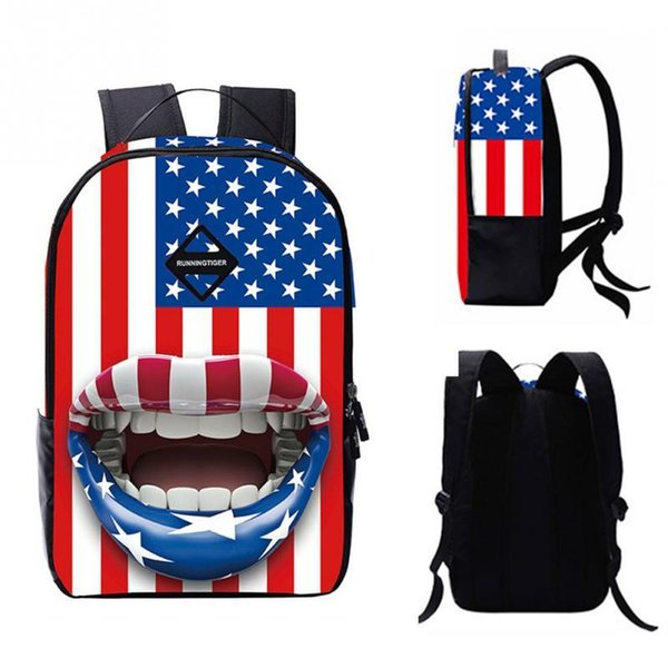 3D Printed National Flag Eiffel Tower Camel Desert Pattern Backpack Rucksack Personalized Shoulder Bags for School Travel Sports