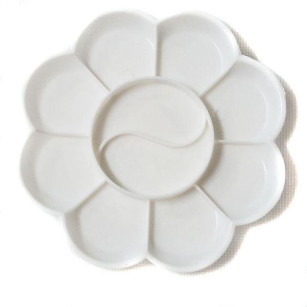 best selling Wholesale-2pcs Beauty grading tool Nail color plates Imitation plastic dish plum palette color palette acrylic paint tone paint tray C1039