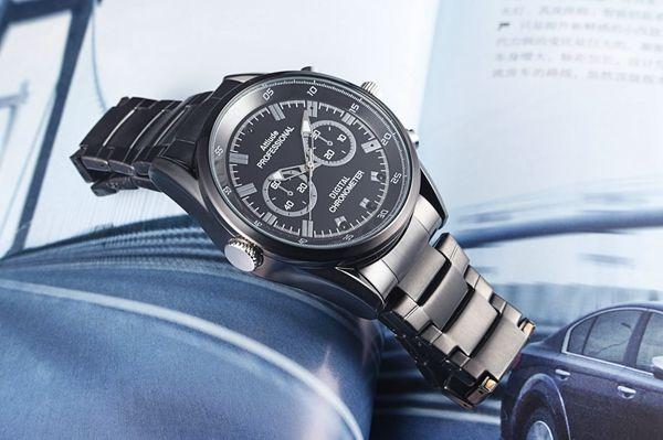 Reloj ultradelgado cámara 1080P 30fps reloj cámara con visión nocturna reloj de detección de movimiento Grabador de video audio a prueba de agua