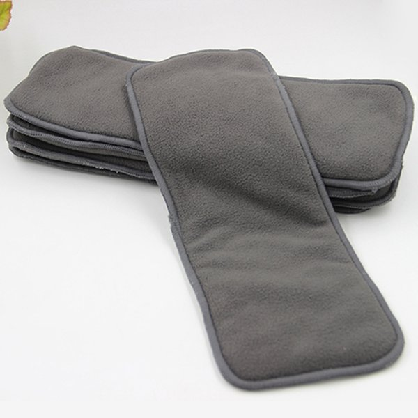 best selling 4 layers Bamboo Charcoal Inserts Cloth diaper For Baby Diaper washable reuseable baby diapers 4 layer thickening urinal pad