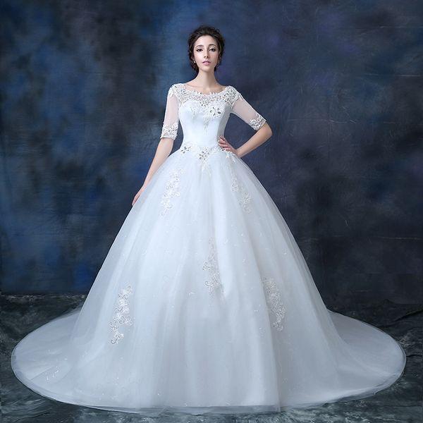 Hpt!High-End Wedding Dress Spring Bride Wipes Bosom Wedding Gown ...