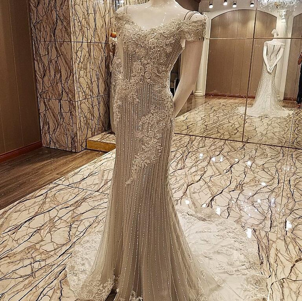 Ls63548 Sparkle Evening Long Dress See Through Back Dubai Sequins ...