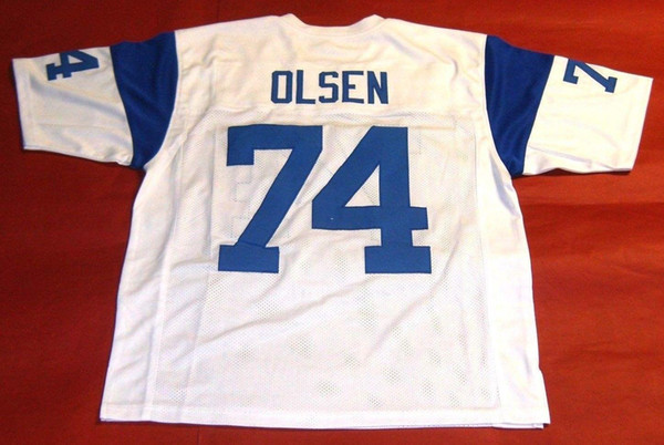 hot sale online b9bbb 7a40a 2017 Cheap Retro #74 Merlin Olsen Custom Throwback Jersey Fearsome Foursome  Mens Stitching Throwback Size S 5xl Football Jerseys From Hyjersey, $21.61  ...