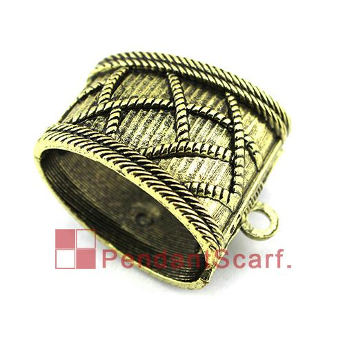 Antique Bronze Spring Opening And Closing System Pendant Scarf Slide Bails Tube DIY Necklace Jewelry Scarf Pendant, Free Shipping, AC0322B