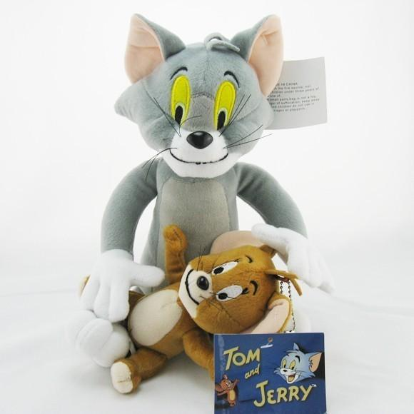 2pcs/lot Baby Toys Cat Tom And Jerry Mouse Plush Stuffed Toys soft Dolls Boneca Pelucia Education toys christmas birthday gift