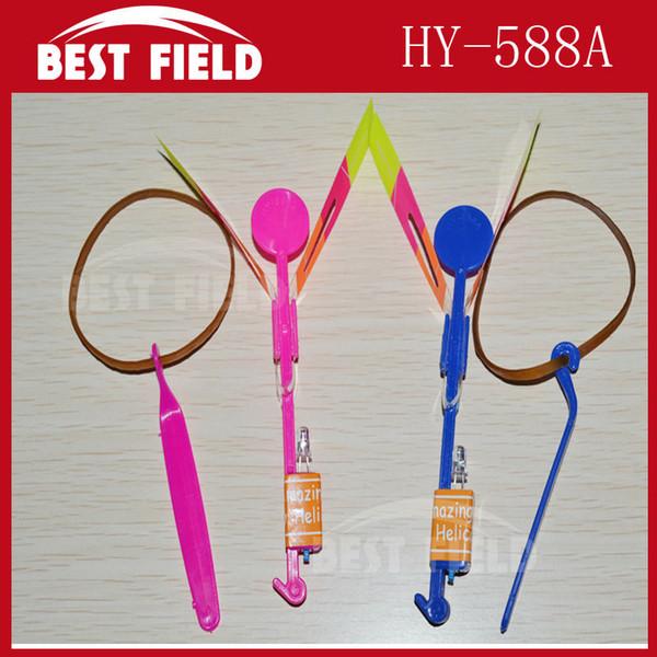 Wholesale-free shipping 2400pcs/lot blue light LED Amazing arrow helicopter Flying umbrella arrow helicopter light up arrow novelty toy