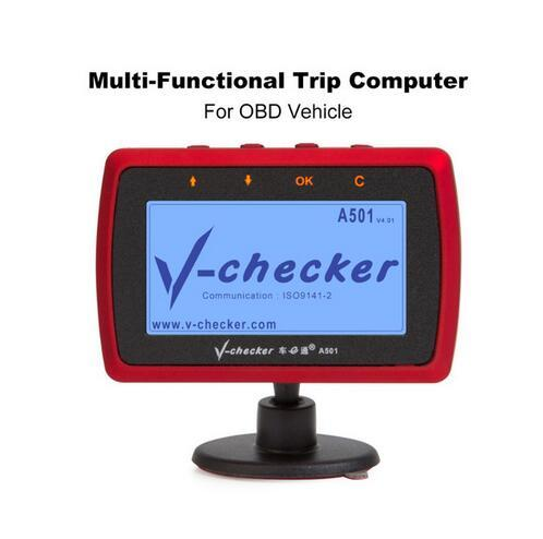 V-checker A501 Trip Computer OBD II Scanner Car Engine Fault Code Reader CAN Diagnostic Scan Tool