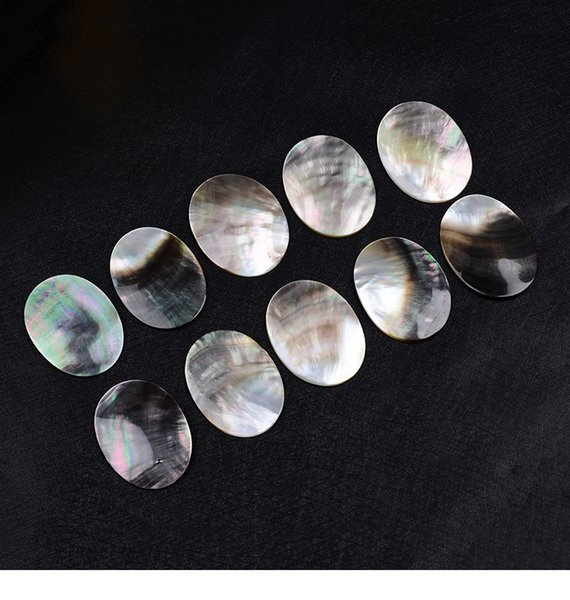 top popular Hot Sell Fashion 30x40MM Natural Black Oval Shell Beads High Polished Loose Bead DIY Jewelry Component Wholesale 2021