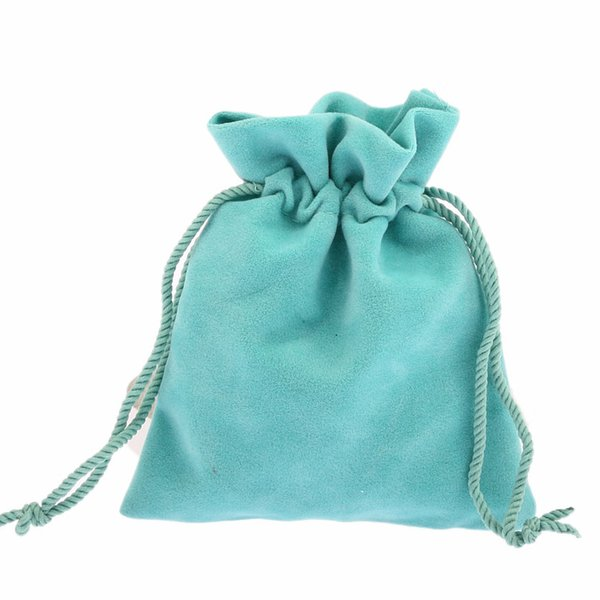 10x12cm 50pcs Green Velvet Drawstring Shrink Bags Pouches Jewelry Christmas Gift Bracelets Beads Charms Jewelry Bags Packaging
