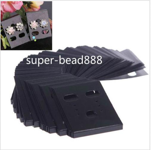 best selling 200Pcs Jewelry Earring Ear Studs Hanging Holder Display Hang Cards Plastic Show