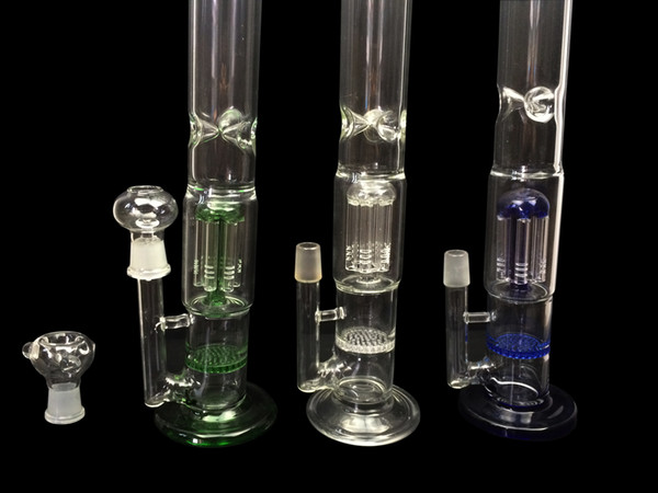 Cheap Glass Bong for sale Manufacturer Glass Pipe Water With Arm Tree Percolator and Honeycomb Glass Hookah
