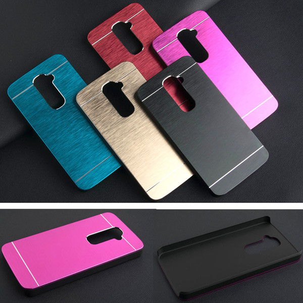 Wholesale-Luxury Brushed Metal Aluminium PC material case For LG G2 D801 D802 phone case cover