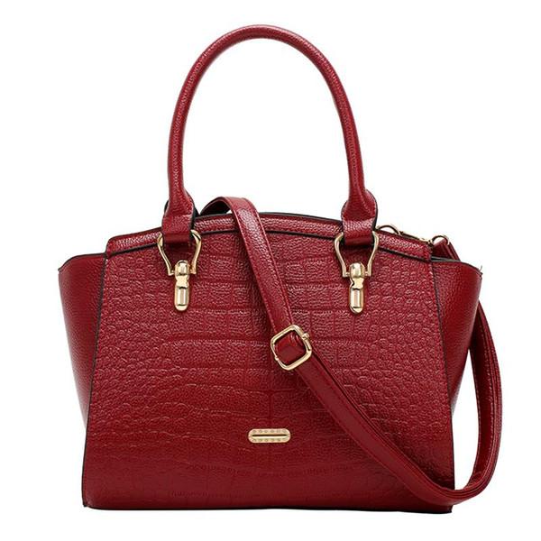 2016 new fashion shoulder bag kangaroo Crocodile handbag Scarecrow simple  portable Shoulder bag Satchel handbag Free shipping 9731b14334ff2