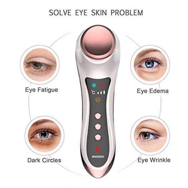 Tamax Eye Massager per cerchi scuri e gonfiore Skin tighting Martello freddo caldo Dispositivo antirughe antirughe