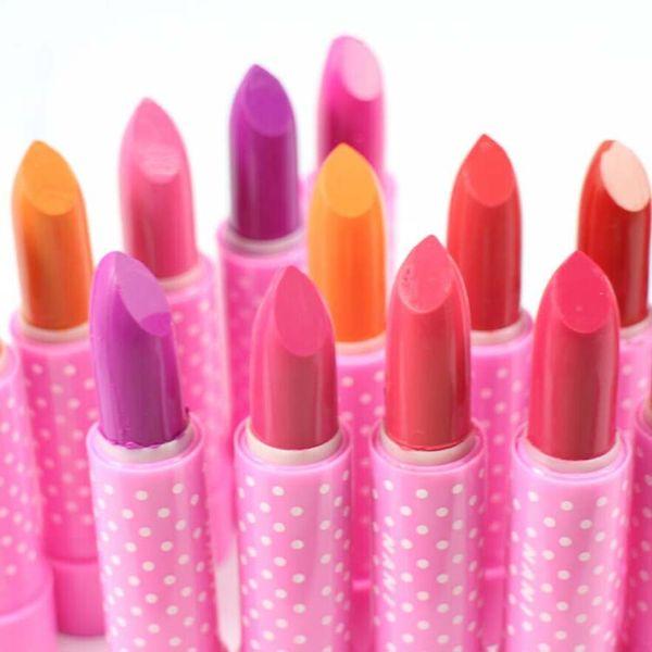 Rouge À Lèvres Rose Doux Matte Crème À Lèvres Charmant Longue Durée Quotidien Fête Reine Maquillage Brillant À Lèvres Maquillage Diamant Étincelle Stylo À Lèvres