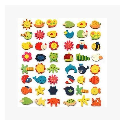 Juguetes de madera para niños educativos infancia temprana mental de dibujos animados lindo imán refrigerador educación imanes de nevera juguetes decoración para el hogar ZJ-T19