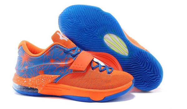 free shipping 2016 hot kds 7 mens basketball shoes men sport basketball shoes mens fashion kd7 mujer