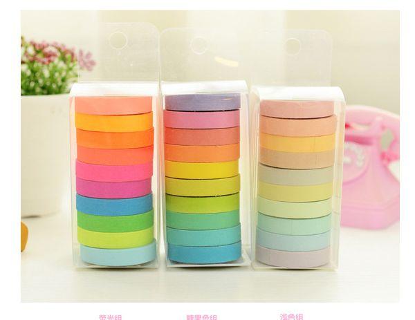 best selling New Angoo Masking Tape Rainbow Washi Sticky Paper Masking DIY Adhesive Decorative Tape DHL Fast Shipping
