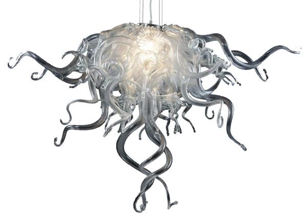 Lampadari a sospensione in cristallo soffiato a mano in cristallo soffiato a mano 100% nuovo colore argento