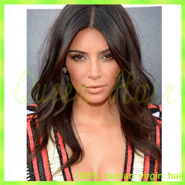 Full lace human hair wigs Peruvian virgin human hair lace front wig 130% natural black color wavy Peruvian virgin hair