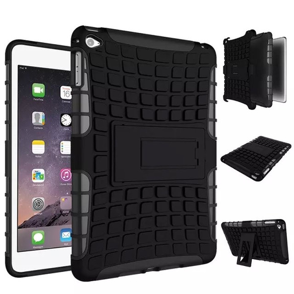 iPad mini 4 shell TPU + PC 2in 1 rubber Armor Defender Hybrid Heavy Duty phone case, Free shipping