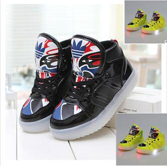 21-36 Size LED light flash children boy kids girls Sports running shoes sneakers cartoon cute child shoe casual sneaker shoes 20