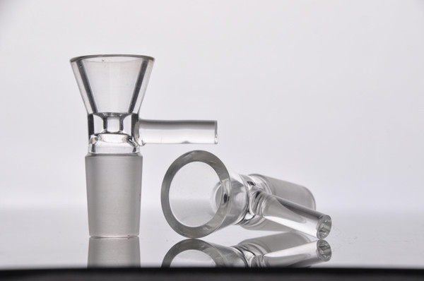 New Glass oil bowls glass one glass oil rig bowl glass nail bowl 14.4mm 18.8 mm male joint free shiping
