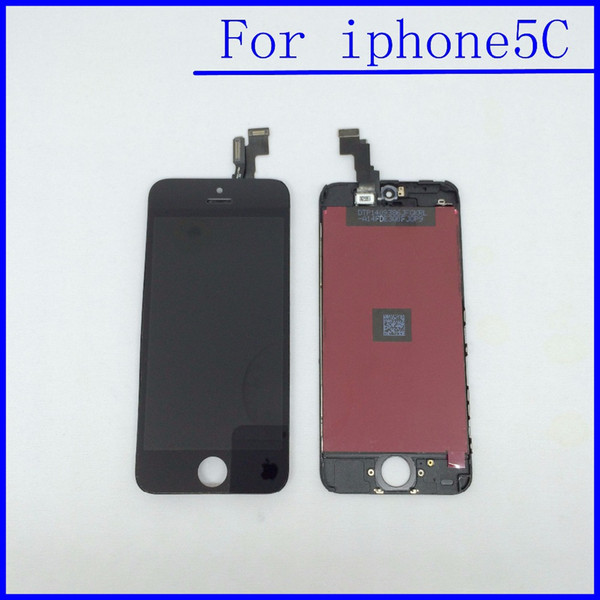 Wholesale-10pcs/lot LCD Screen Assembly Replacement Display Touch Screen Digitizer for iphone 5C lcd Black/White Color DHL Free Shipping
