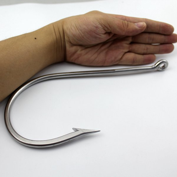 20 /0 Large Ocean Ultra Strong Shark Tuna Hook Big Game Stainless Steel Thick Wire Barbed Ocean Boat Sea Peche Fishing Hook