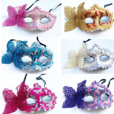Masquerade Masks Women Mask Handmade Beautiful lace mask and butterflies Venetian Masquerade Party Mask Sexy Princess Dance Wedding