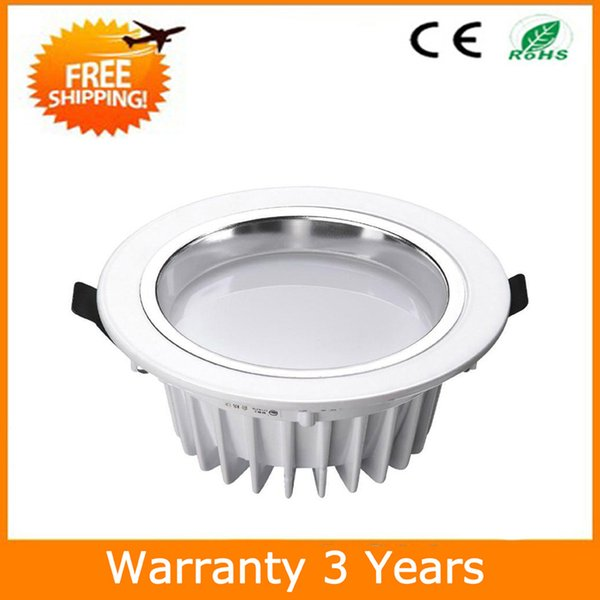 Recessed LED Down Light 12W LED Downlight Dimmable 70PCS Epistar Chip 100-110LM/W Super Bright Manufacturer Supply Free Shipping