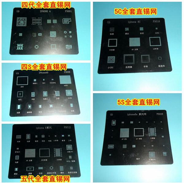 IC Repair BGA Reballing Stencil Template per iPhone 4 4S 5 5C 5S 6 6 Plus WIFI