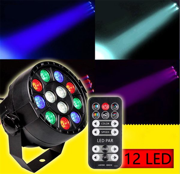 12W RGBW Stage Light With DMX Model 12 Led Par Lights Voice Activated Remote Control Disco DJ Stage Party Background Lamp