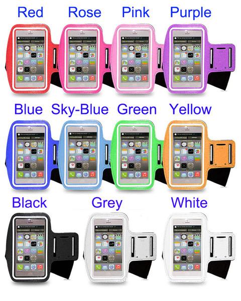 Commercio all'ingrosso della cassa della cassa del nylon della borsa da corsa del sacchetto di sport del braccialetto impermeabile per il iphone 6 più borsa della fascia del braccio di Samsung Galaxy S5 S4 S3