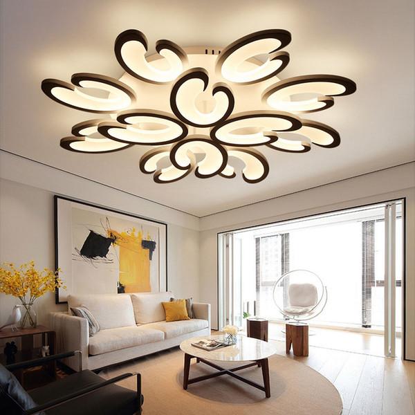 Modern Flower LED Acrylic Ceiling Light Flower Pendant Lamp For Living Room  Bedroom Low Voltage Pendant Lights Pull Down Pendant Light From ...